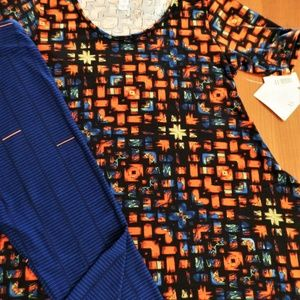 LULAROE Other - LULAROE OUTFIT! XS- PERFECT-T TOP & OS- LEGGINGS